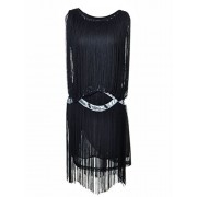 Anna-Kaci Womens 1920s Gatsby Flapper Fringe Swing Ombre Cocktail Mini Dress - Vestidos - $49.99  ~ 42.94€