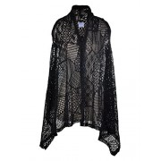 Anna-Kaci Womens Sleeveless Open Front Crochet Shawl Cardigan Bikini Cover Up - Shirts - $23.90