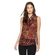 Anne Klein Women's Animal Print Tie Front Sleeveless Blouse - Shirts - $18.27