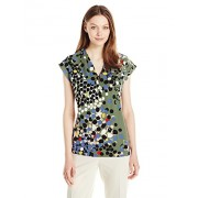 Anne Klein Women's Printed V-Neck Ity - Shirts - $29.99