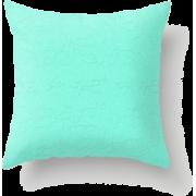 Aquamarine Flora Throw Pillow - Uncategorized - $41.99
