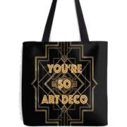 Art Deco tote by drewjamer - Travel bags -