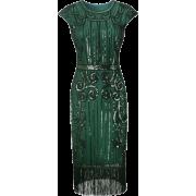 Art deco style green dress - Vestiti -