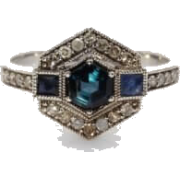 Art deco style ring - Anelli -