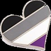 Asexual heartpin - Uncategorized -