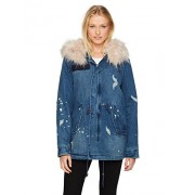 Avec Les Filles Women's 3-In-1 Distressed Parka Jacket With Detatachable Faux Fur Lining - Outerwear - $90.93
