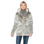 Avec Les Filles Women's Velvet Oversized Down Puffer Coat - Outerwear - $114.54