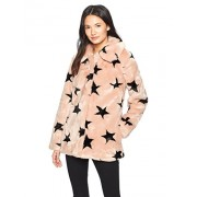 Avec Les Filles Women's Vintage Inspired Faux Fur Swing Coat With Star Print - Outerwear - $159.99