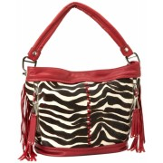 B. MAKOWSKY Andrea Shoulder Bag Zebra Haircalf - Bag - $318.00