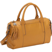 B. Makowsky Charisse Folded Edge Satchel (Caramel) - Bag - $175.99
