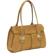B. Makowsky Eloise Tab Flap Satchel Nutmeg - Bag - $268.00