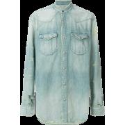 BALMAIN distressed denim shirt - Camicie (lunghe) - 820.00€