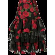 BAMBAH roses ruffle skirt - Skirts -