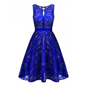 BBX Lephsnt Lace Floral Cocktail Dress Women's Vintage Party Formal Swing Dress - Obleke - $26.99  ~ 23.18€