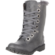 BEARPAW Women's Kayla Lace-Up Boot Charcoal - Boots - $40.20