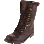 BEARPAW Women's Kayla Lace-Up Boot Chocolate - Boots - $40.20