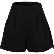 BOURIE black wide shorts - Shorts -