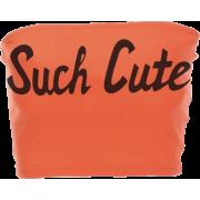 Babygirl printing wild Tube Top - Vests - $15.99