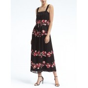 Banana Republic Floral Apron Maxi Dress - Black - Dresses - 144.00€  ~ $167.66