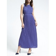 Banana Republic Gathered Pleat Maxi Dress - Purple crayon - Dresses - £99.50  ~ $130.92