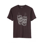 Banana Republic Men's Drink Local Craft Beer Cotton Graphic T-Shirt Birch Beer Medium - Shirts - $25.99