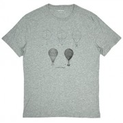 Banana Republic Men's Hot Air Balloon Diagram Graphic T-Shirt Heather Grey Medium - Shirts - $26.99