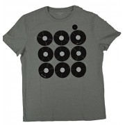 Banana Republic Mens Multi Records Graphic Tee, Grey Literature - Shirts - $26.99
