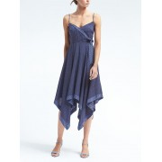 Banana Republic Print Strappy Handkerchief Hem Dress - Blue print - Dresses - £99.50  ~ $130.92