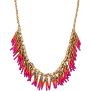Beaded Fringe Seedbead Necklace - ネックレス - $14.99  ~ ¥1,687