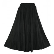 Beautybatik Boho Gypsy Long Maxi Tiered Skirt - Skirts - $36.99
