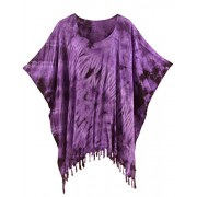 Beautybatik Boho Hippie Tie Dye Tunic Blouse Kaftan Plus Size Top XL to 4X - Tunic - $30.99