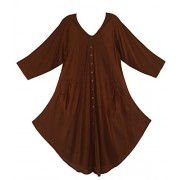 Beautybatik Lagenlook Short Sleeve Vest Tunic Top - Shirts - $32.99