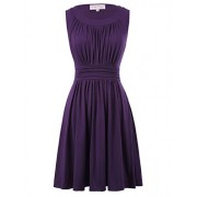 Belle Poque A-Line Women's 1950s Vintage Dress Sleeveless - Flats - $19.99