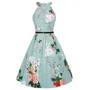 Belle Poque Homecoming 1950s Vintage Sleeveless Keyhole Flared A-Line Dress - Flats - $15.99
