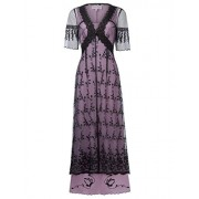Belle Poque Steampunk Victorian Titanic Maxi Dress Tea Party Gown Antique Dress - Flats - $29.99