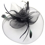 Belle Poque Women's Retro Fascinators Hat with Flower Mesh Ribbons and Feathers for Derby Tea Party - Hat - $5.99