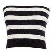 Belle Poque Women's Sexy Strapless Striped Off-Shoulder Bandeau Tube Crop Tops - Shirts - $11.99