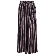 BerryGo Women's Boho High Waist Split Stripe Wide Leg Pants - Pantaloni - $19.99  ~ 17.17€