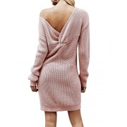 BerryGo Women's Casual Long Sleeve Off The Shoulder Knitted Sweater Mini Dress - My look - $28.99