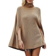BerryGo Women's Casual Turtleneck Cape Sweater Knitted Pullover - My look - $29.99
