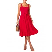 BerryGo Women's Sexy Backless Ruffle Fit and Flare Dress Cocktail Party Midi Dress - My look - $17.99