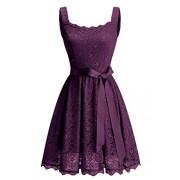 BeryLove Women's Floral Lace Bridesmaid Dress Short Prom Cocktail Party Dress - Dresses - $30.99