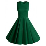 BeryLove Women's Vintage 50s Polka Dot Bowknot Retro Cocktail Swing Party Dress - Dresses - $58.00