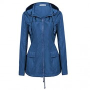 Beyove Women's Hooded Lightweigt Waterproof Rainwear Outdoor Long Slim Raincoat - Outerwear - $19.99