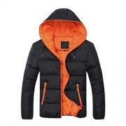 Bifast Men Winter Warm Hooded Long Sleeve Zip Pocket Coat Jacket - Outerwear - $99.99