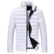 Bifast Men Winter Warm Stand Collar Long Sleeve Zip Coat Jacket Outwear S-3XL - Outerwear - $89.99