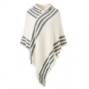 Bifast Women Casual Hooded Geometric Tassel Knit Cape Scarf Cold Weather Scarves & Wraps - Accessories - $79.99