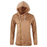 Bifast Women Casual Hooded Long Sleeve Oblique Zipper Outwear Fashion Hoodies - Outerwear - $79.99