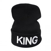 Bifast Women Casual Letter Embroidery Stretchy Knitted Beanie Hat Winter Fashion Bomber Hats - Chapéus - $14.99  ~ 12.87€
