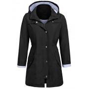 Bifast Women Lightweight Waterproof Hooded Active Outdoor Rain Jacket - Outerwear - $25.99